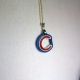 Chicago Cubs necklace, Chicago Cubs jewelry, Chicago girl, Chicago gift