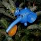 handmade elephant, handmade christmas ornament, handmade in chicago