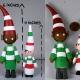 handmade decorations, Christmas tree ornament, girl elf, elf girl, black girl