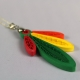 feather necklace, feather jewelry, paper quilling, quilled feathers, quilling