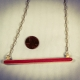1st anniversary, watermelon red, eco friendly necklace, eco chic necklace