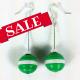 green ornament earrings, red ornament earrings, Christmas ornament earrings