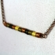 minimalist necklace, paper quill beads, gold beads, copper and gold, for her