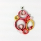 deco pendant, deco necklace, modern necklace, geometric shapes, quill pendant