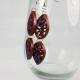 copper dangle, copper earrings, paper quilling earrings, ecofriendly earrings