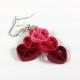 heart pendant, hearts jewelry set, heart jewelry, red heart, pink heart