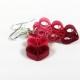 three hearts earrings, paper hearts, ecofriendly paper earrings