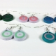 wedding colors, small round earrings, circle earrings, lightweight earrings