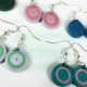 striped earrings, summer colors, multiple color choices, pick your colors