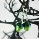 handmade earrings, paper jewelry, acorn jewelry, acorn jewellery, moss green
