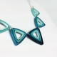 paper quilled necklace, triangle necklace, modern necklace, geometric necklace