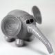 grey elephant ornament, blue elephant ornament, blue elephant figurine, quilling