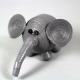 grey elephant figurine, gray elephant ornament, quilling elephant