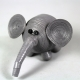 gray elephant figurine, gray elephant ornament, grey elephant figurine