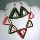 Christmas jewelry set, Christmas necklace, Christmas earrings, Christmas outfit