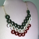 Christmas necklace, red and green necklace, paper quilling necklace