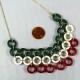 handmade necklace, handmade jewelry, handmade jewellery, paper jewelry