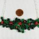 paper necklace, handmade mistletoe necklace, handmade holly necklace
