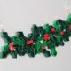 paper jewelry, handmade ivy necklace, Christmas outfit, Christmas holly and ivy