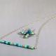 blue bar necklace, handmade bar necklace, handmade jewelry, trending jewelry