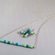 handmade jewelry set, paper anniversary, anniversary gift, 1st anniversary