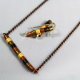 stick necklace, upcycled necklace, copper necklace, petite necklace, quilling