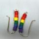 rainbow colors, rainbow beads, eco friendly jewelry, eco friendly earrings