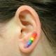 gay pride ear crawler, gay pride ear climber, sterling silver ear climber