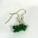 clover earrings, handmade clover earrings, dangle shamrock, tiny shamrocks