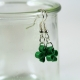 shamrock jewelry, three leaf clover earrings, handmade Irish jewelry