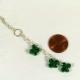 shamrock lariat necklace, clover lariat necklace, handmade shamrock necklace