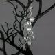 silver earrings, dangle chain earrings, paper earrings, dangle earrings, ecochic