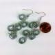 silver earrings, modern earrings, paper earrings, wear to work, date night, mod