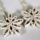 handmade snowflake jewelry, frozen earrings, frozen snowflake earrings