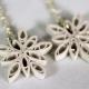 handmade snowflake jewelry, frozen earrings, frozen snowflake earrings