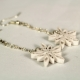 snowflake dangles, snowflake jewelry, paper snowflake earrings