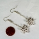 handmade snowflake jewelry, ecofriendly earrings, paper anniversary gift