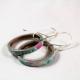 hoop earrings, paper hoop earrings, paper hoops, upcycled hoops, recycled hoops