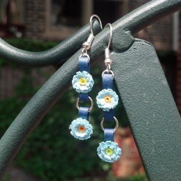 tiny flowers earrings, tiny flower earrings, paper quill earrings, gift for wife