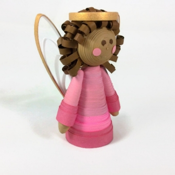 brown angel tree topper, paper tree topper, angel ornament, custom tree topper