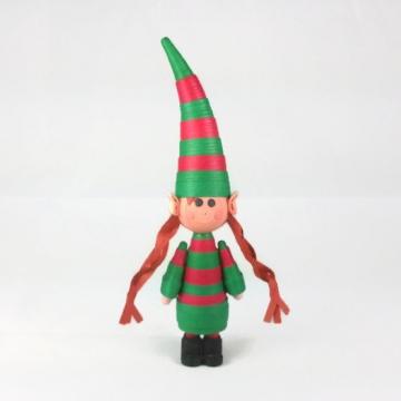 girl elf ornament, elf girl ornament, handmade elf ornament, handmade Christmas