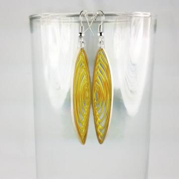 earth friendly paper earrings, ecofriendly paper earrings, alternative materials