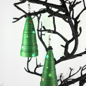 paper quilling Christmas, Christmas jewelry, paper earrings, paper jewelry
