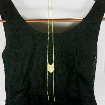 boho chic necklace, chevron necklace, long layering necklace, long necklace