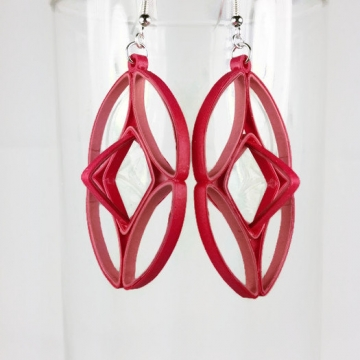 geometric cage earrings, geometric earrings, cage earrings, art deco earrings