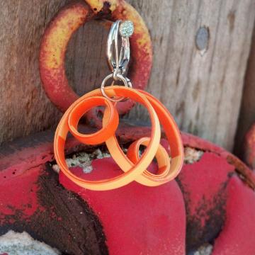 paper quilled earrings, paper quilled jewelry, orange earrings, hoop earrings