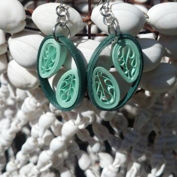 unique earrings, eco friendly earrings, paper quill earrings, paper earrings