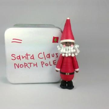 black Santa ornament, brown Santa ornament, Santa Claus ornament, Santa figurine