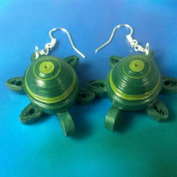 sea turtle jewelry, earrings for girls, dangle turtles, animal lover, sea turtle