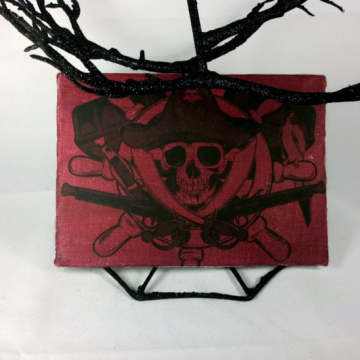 pirate art, Halloween art, pirate decoration, pirate decor, Halloween decoration